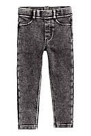 Штаны-треггинсы черный деним на девочку 6-7, 8-9, 9-10 лет H&M (Англия)
