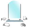 Набор аксессуаров в ванную комнату Saphire,цинк (6 элементов включая зеркало)