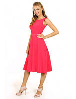 Женское коктейльное платье делового стиля с поясом
