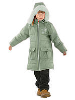 Теплое стеганое пальто для девочек (98, в расцветках)