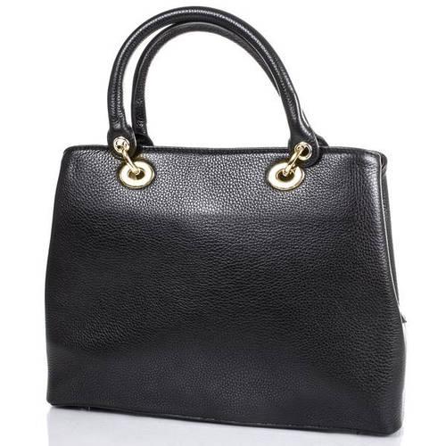 Кожаная женская сумка DESISAN (ДЕСИСАН) SHI4005-001 Черная