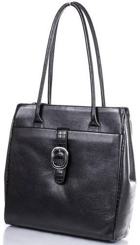 Кожаная элегантная женская сумка DESISAN (ДЕСИСАН) SHI7131-011 Черная