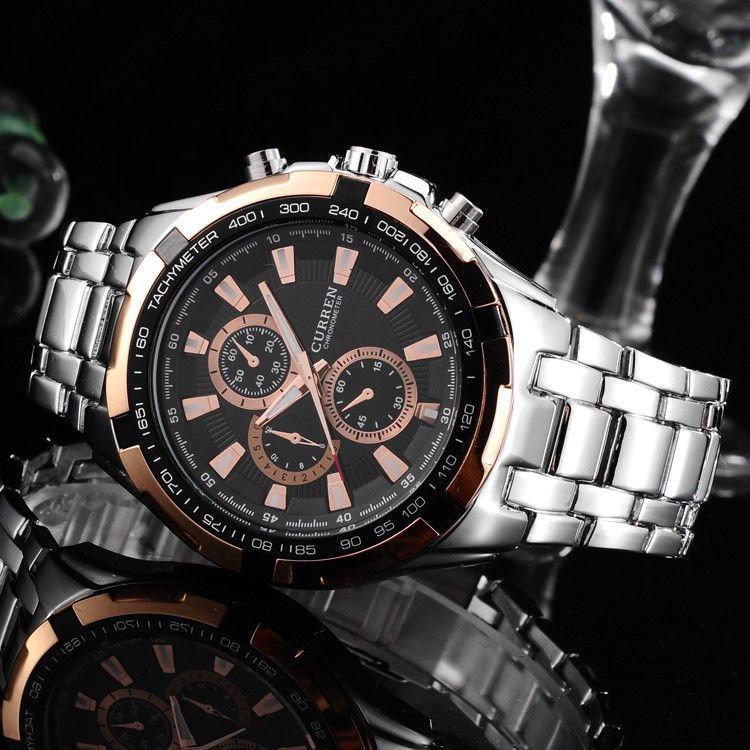 Часы мужские Curren silver - gold
