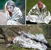 Спасательное термо одеяло пакет покрывало из фольг