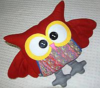 Подушка-игрушка Сова красная