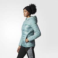 Пуховик женский с капюшоном Adidas Cozy AX8304 зима - 2016/2