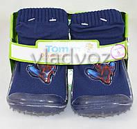 Детские носки с подошвой для мальчика 4 (12 месяцев) спайдер мен 10.5 см-11.5 см.