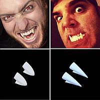 Клыки вампира, зубы Дракулы - 4 шт - Хэллоуин