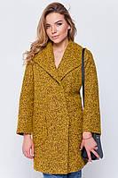 Женское модное пальто-пиджак прямого покроя на осень-весну