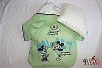 Шелковый детский набор в кроватку: одеяло + подушка