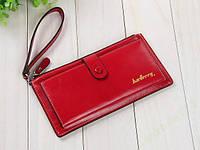 Красный кошелек из натуральной кожи Baellerry