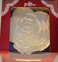 Свеча декоративная Роза 90х135мм, белая 1шт