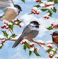 Салфетка декупажная Птицы 2569
