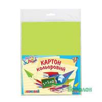 Набор цветного картона  неон А4 (10л/10цв) 1Вер.950258
