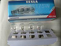 Лампа накаливания P21/5W TESLA 12в стопы 1шт двухконтактная