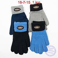 Шерстяные перчатки для мальчиков - №16-7-15