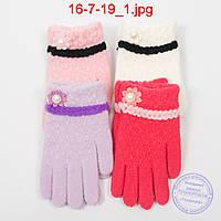 Шерстяные перчатки для девочек - №16-7-19
