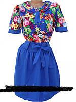 Яркие платья в цветки. 42, 44, 46, 48