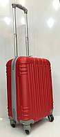 Чемодан 1719 дорожный маленький красный объем 40 литров размеры 37 см х 50 см х 22 см