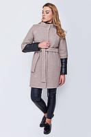 Модное женское пальто-трансформер из вареной шерсти