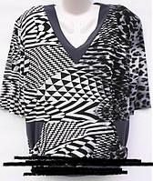 Женские блузы-туники (серый 56-58
