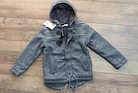 Теплое пальто для мальчиков ( внутри мех- травка) 4-6лет  Разные расцветки