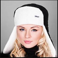 "Зимняя женская теплая шапка-ушанка ""Тина"