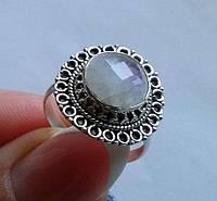 Кольцо с натуральным лунным камнем 5,36Ct (10мм)