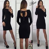 Короткое черное платье ангора