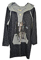 Платье женское с капюшоном карман