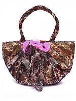 Красивая женская сумка, обшитая шифоном. Удобная м
