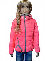 Яркая куртка для девочек, примерно  6-10 лет. Есть