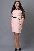 Платье с гипюровой вставкой есть большой размер