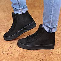 Ботинки женские демисезонные Puma Rihanna Black, осенняя обувь