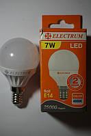 Светодиодная LED лампа Electrum D45 7w E14 2700K