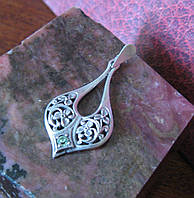 Кулон Серебро 925пр, фионит. Украина
