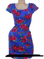 Летнее платье из стрейч-льна  44, 46, 48, 50