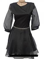 Молодежное нарядное платье черного цвета  новинка
