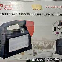 Аккумуляторный фонарь Yajia YJ-2887, радио, power bank