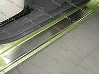 Накладки порогов Renault Scenic II 2003-2009