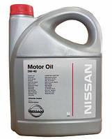 Моторное масло NISSAN 5W40 (5л.) оригинальное синтетическое моторное масло NISSAN