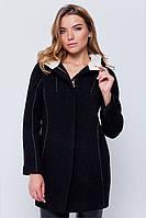 Женское короткое демисезонное пальто с капюшоном