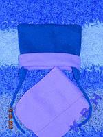 Шапка флисовая с шарфиком