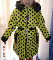 Яркая красивая куртка-плащ демисезонная на девочку