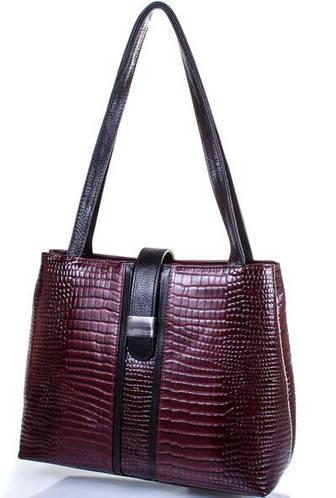 Кожаная оригинальная  женская сумка DESISAN (ДЕСИСАН) SHI1521-588 Бордовый