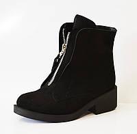 Замшевые зимние женские ботинки Kluchini 3801