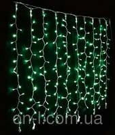 Новогодняя гирлянда DELUX CURTAIN 912LED 2x3m, зеленая/черный провод, внешняя