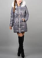 """Зимняя куртка для женщин """"Дорин Грей"""" с капюшоном и поясом"""