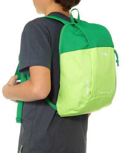 Яркий городской детский рюкзак 6 л. Quechua ARPENAZ Kid 2033564 салатовый с зеленым