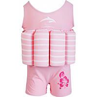 Konfidence Купальник-поплавок Konfidence Floatsuits, Pink Stripe, M/ 2-3 г. (FS02SC)